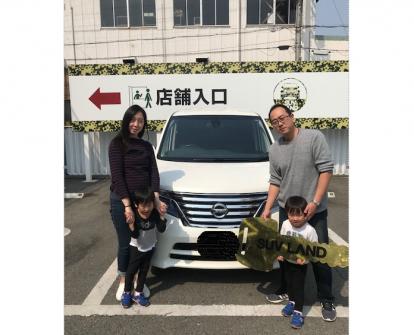 K様 日産 セレナ DAA-HFC26 ご納車 祝!!