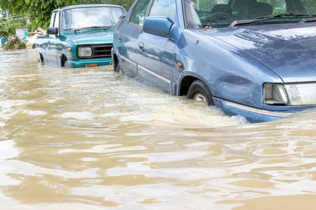 車が水没して動かない場合どうする?修理できる範囲と費用を解説