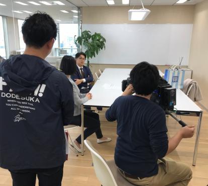 メ~テレ(名古屋テレビ放送)「ドデスカ!」内『内定辞退を防ぐ…企業のマル秘方策』として、ネクステージの取り組みが紹介されました。