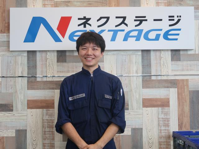ネクステージのスタッフ写真 メカニック 椎原 颯斗